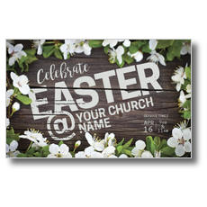 Easter At Flower Border Postcard