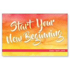 Big Invite New Beginning Postcard