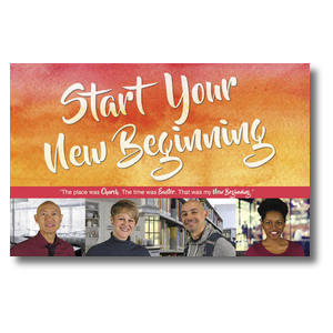 Big Invite New Beginning People Postcards