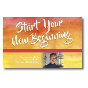 Big Invite New Beginning Jill Postcards