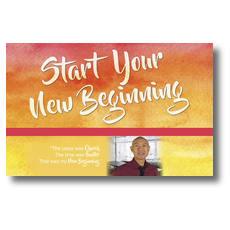 Big Invite New Beginning Vince Postcard