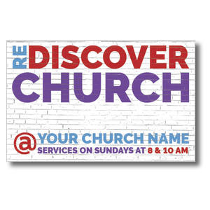 Brick Rediscover Church 4/4 ImpactCards