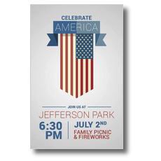 Celebrate America Flag Postcard