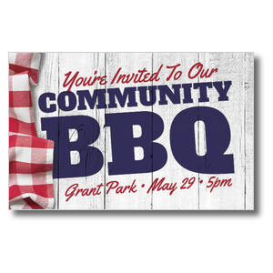 Community BBQ Postcards