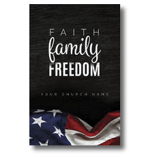 Faith Family Freedom Postcard
