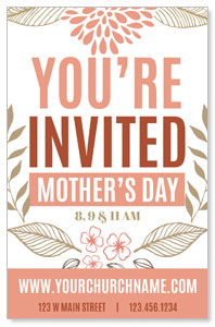 Flowers Invited Mothers Day Postcards