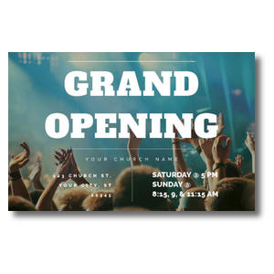 Grand Opening Crowd Postcards