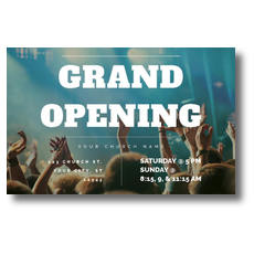 Grand Opening Crowd Postcard