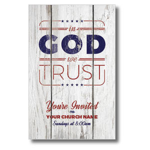 In God We Trust Wood Postcards