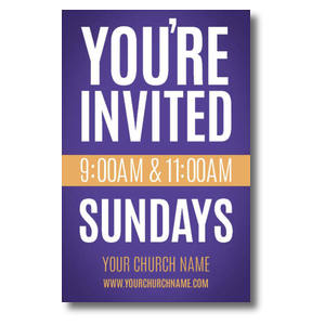 Youre Invited Purple Postcards