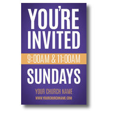 Youre Invited Purple Postcard