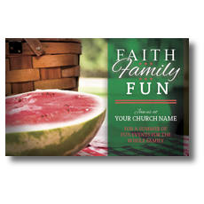 Faith Family Fun Postcard