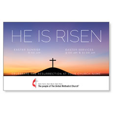 UMC He Is Risen Sunrise Postcard