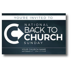 Back to Church Sunday Logo Postcard
