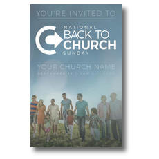 Back to Church Sunday People Postcard