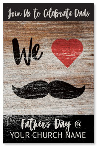 Fathers Day Mustache Postcards