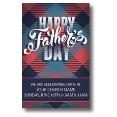 Fathers Day Argyle Postcard