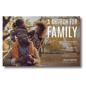 Church for Family Park Postcards