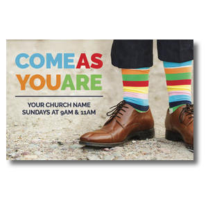 Come As You Are Socks Postcards