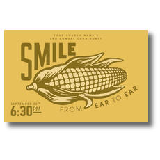 Ear to Ear Smile Postcard