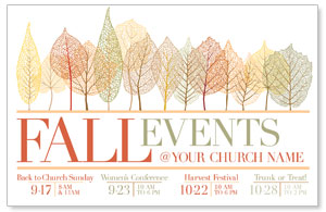 Fall Events Leaves Postcards