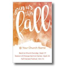 Fall Orange Watercolor Postcard