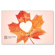 Heart Leaf Postcard