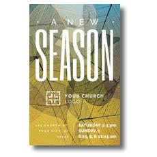 New Season Leaf Print Postcard