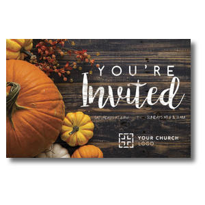 Pumpkins Youre Invited Postcards