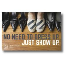 Show Up Shoes Postcard