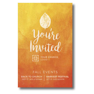 Youre Invited Orange Postcards