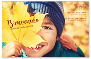 Leaf Kid Spanish Postcards