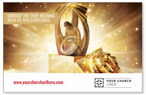 UMC Christmas Gold Postcards