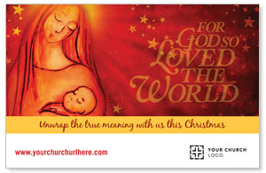 UMC Christmas Mary and Baby Postcards