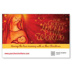 UMC Christmas Mary and Baby Postcard
