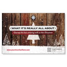 UMC Christmas Wood Postcard