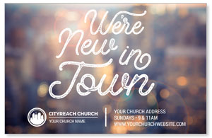CityReach New In Town Postcards