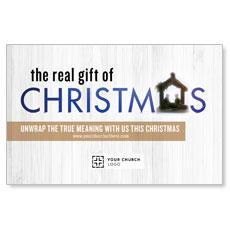 UMC Christmas White Wood Postcard