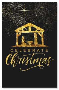 Black and Gold Nativity Postcards