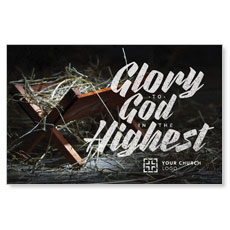 Glory God Manger Postcard
