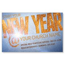 New Year At Postcard