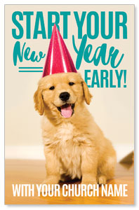New Year Puppy Postcards