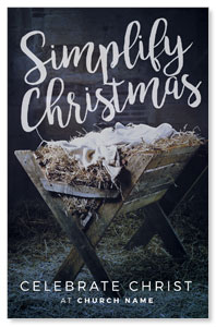 Simplify Christmas Manger Postcards
