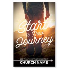 Start New Journey Postcard