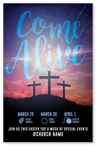 Come Alive Easter Journey Church Postcards