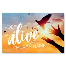 Alive Doves Postcard