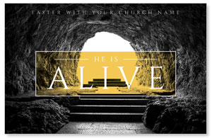 Alive Empty Tomb Church Postcards