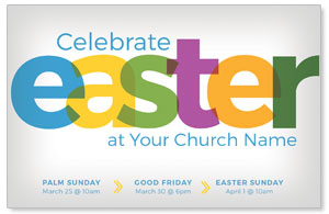 Color Bold Easter 4/4 ImpactCards