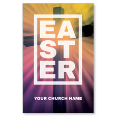 Easter Bold Cross Postcard