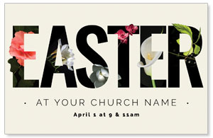 Easter Flower Letters Postcards